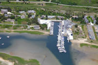 Outermost Harbor Aerial: Chatham, Cape Cod
