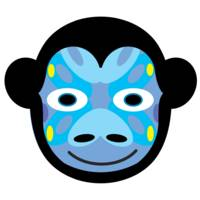 Animal Mask Icon Monkey