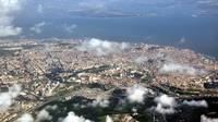 Lisbon From Air High Altitude