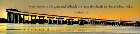 Banner of Faith - Matthew 7:14