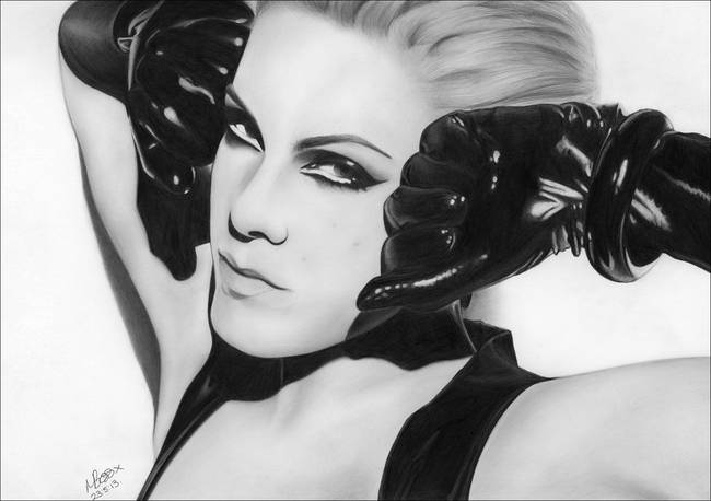 drawing p nk covergirl 001 by mandy boss