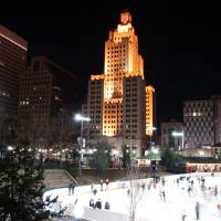 providence on a cold december evening by Alexandr Grichenko