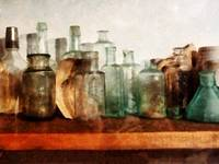 Row of Medicine Bottles