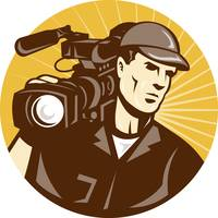 Cameraman Film Crew Pro Video Movie Camera