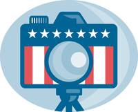 American DSLR Camera Stars and Stripes Flag