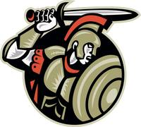Roman Centurion Soldier Sword And Shield