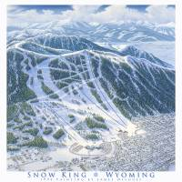 """Snow King, Jackson Wyoming"" by jamesniehuesmaps"