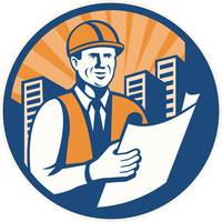 Construction Engineer Architect Foreman Retro