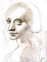 Head of a Girl (Da Vinci Study)