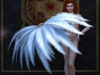 Burlesque Feather Dancer