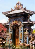 Bali's Colourful Temple Door