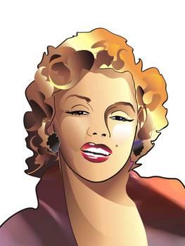 Cartoon Portrait Of Marilyn Monroe By Christian Simonian