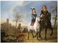 Lady and Gentleman on Horseback (c. 1655)