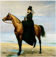 At Seaside, Sophie Croizette on Horseback (1873)