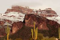 Snow on the Superstitions
