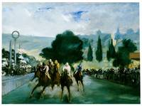 The Races at Longchamp (detail) (1866)