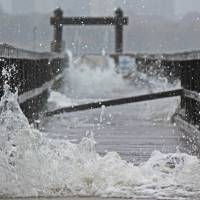 HURRICANE SANDY IN DOUGLASTON Art Prints & Posters by Darren Meenan