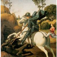 """Saint George and the Dragon (c 1506)"" by ArtLoversOnline"