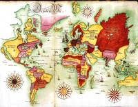 MAP OF THE WORLD 1765