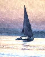 Felucca water colour