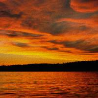 Autumn Sunset by John Tribolet