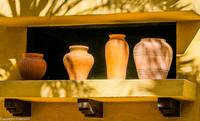 Pottery In A Window