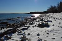 Georgian Bay Cobble Beach in Winter
