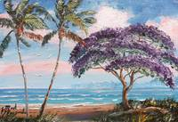 Jacaranda on the Beach