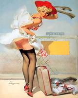 Gil Elvgren - Luggage Accident Pin-Up Girl