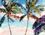 Palm Tree Top by Mazz Original Paintings