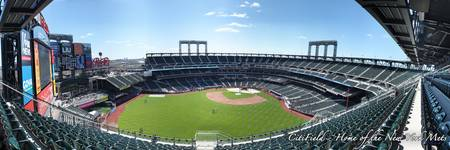 CitiField Panorama from the Back Row in Centerfiel