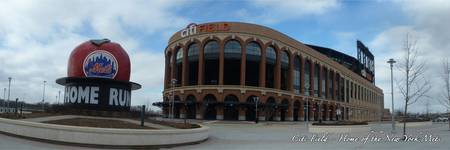 CitiField Homerun Apple Panorama - Jackie Robinson