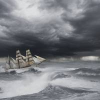 """""""Ship In Rough Seas"""" by johnlund"""