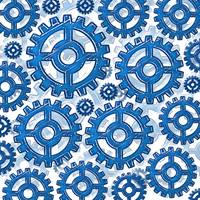 Blue gear wheels