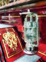 Lantern On Old Fire Truck