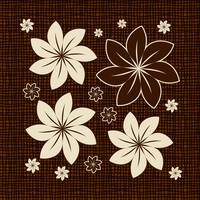 Brown floral design