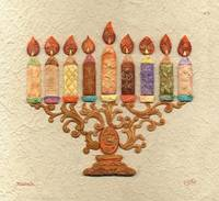 Menorah Candles - Mosaic