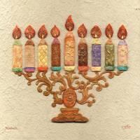 """Menorah Candles - Mosaic"" by MuchnikArts"