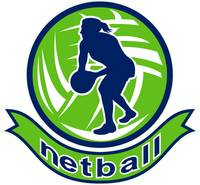 Netball player passing ball