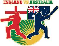 cricket sports batsman England vs Australia flag