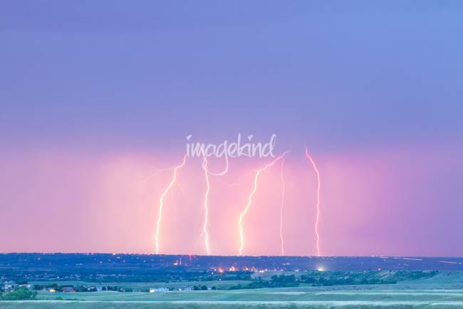 Summer Thunderstorm Lightning Strikes