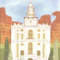 """St George, Utah LDS Temple"" by AZeleskiCollages"