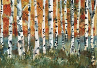 Tree painting, Birch Trees