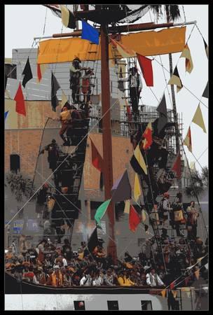 Gasparilla Ship Poster