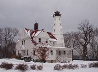 Northpoint Lighthouse winter view