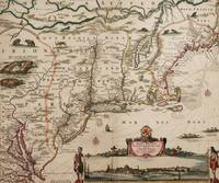 Antique Map of New Netherland and New England