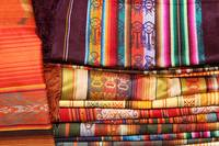 Stacked Linens in the Otavalo Outdoor Market