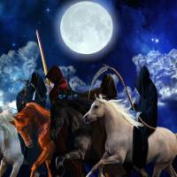 """""""Four Horsemen of the Apocalypse Painting"""" by Creative-Expressions"""