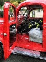 Fire Truck With Fireman's Uniform
