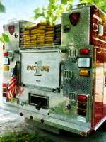 Back Of Fire Truck Closeup